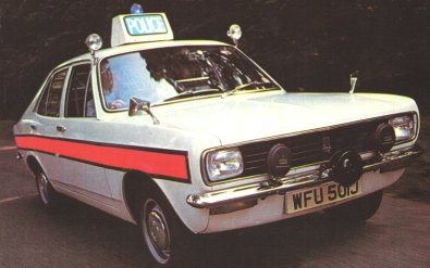 Picture of Avenger Police car, taken from advertising poster.