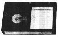 A Beta (Betamax) video cassette, of the type with only one tape window.