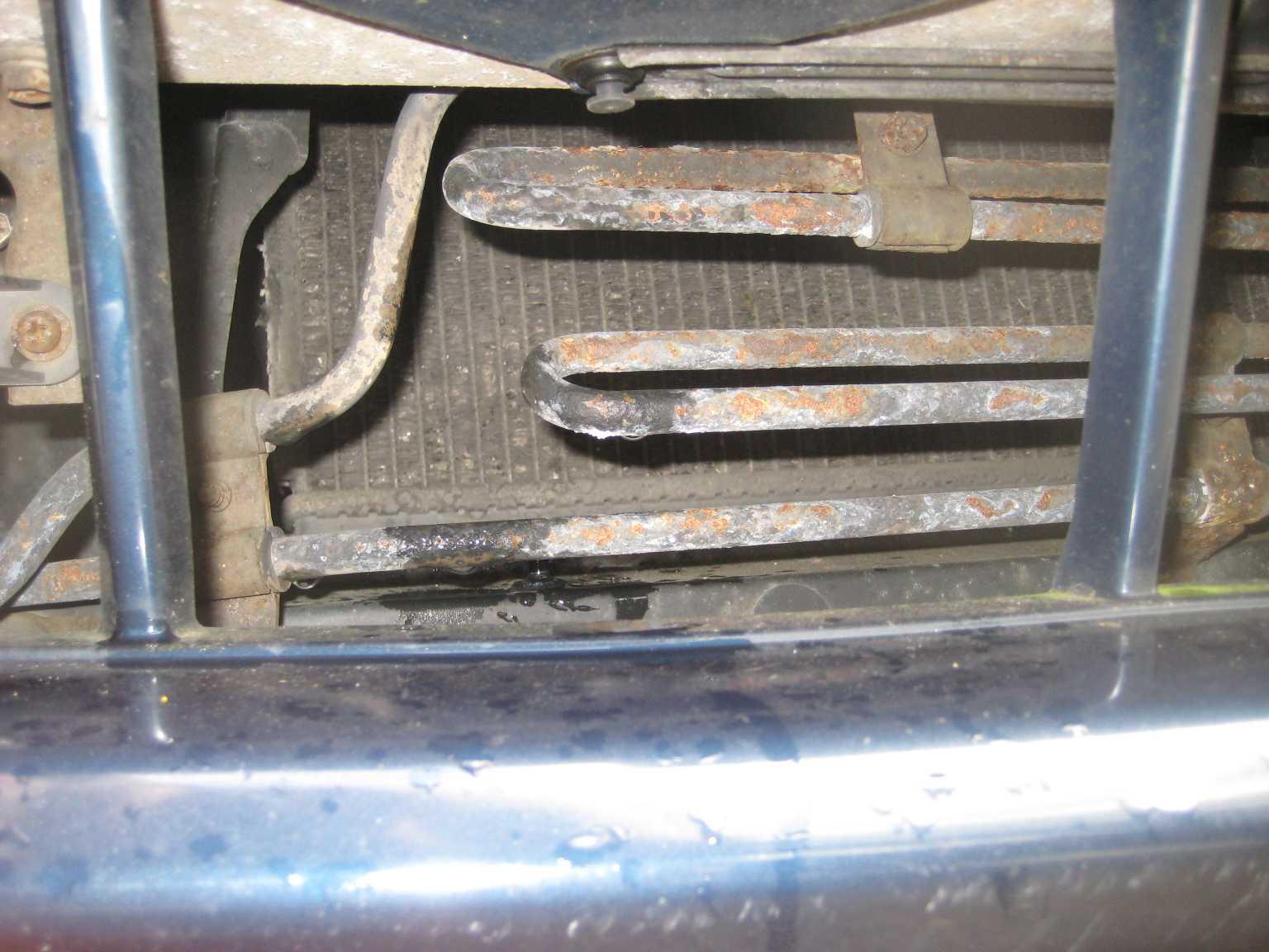 Celica steering fluid cooler pipe corrosion.